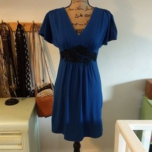My Michelle Small Empire Waist Blue Dress